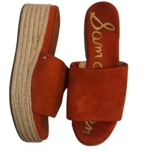 Sam Edelman Shoes - Sam Edelman Weslee Red Platform Slide Sandal